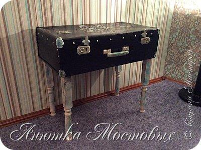 Старый чемодан-столик-лежанка) фото 4