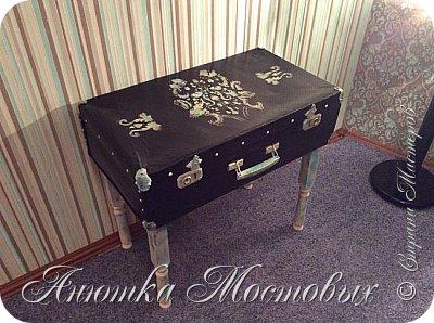 Старый чемодан-столик-лежанка) фото 1
