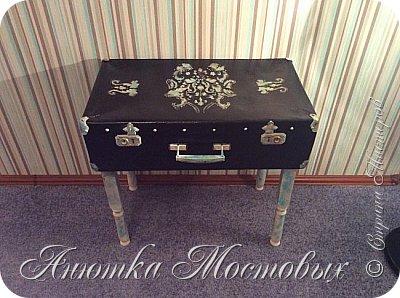 Старый чемодан-столик-лежанка) фото 5