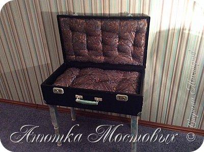 Старый чемодан-столик-лежанка) фото 6