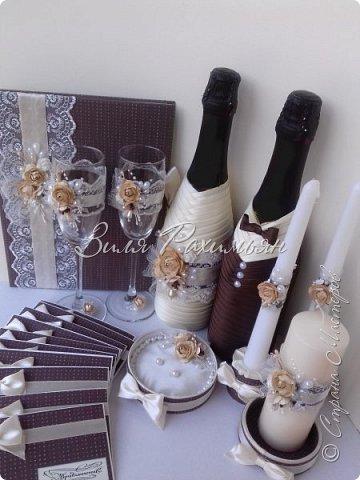 Доброе время суток. Свадебный набор в коричнево-бежевой гамме.  фото 1