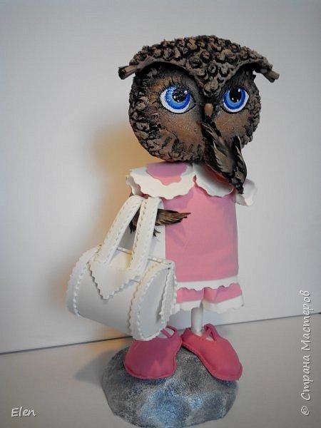 Мои совки сделаны в смешанной технике,головы из папье-маше, крылья и одежда,обувь из фоамирана,подставки из пенопласта фото 6