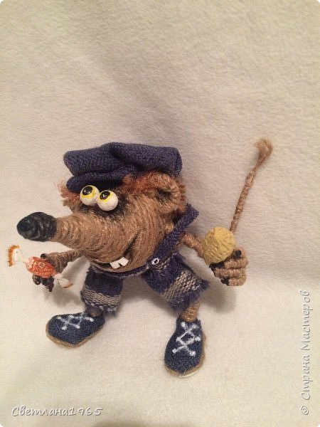 Приветствую страну!!!Очень нравятся джутовые игрушки сделанные местными умелицами,в частности, Лисоля, Nola29 !Появился крыскин-мышкин! фото 1