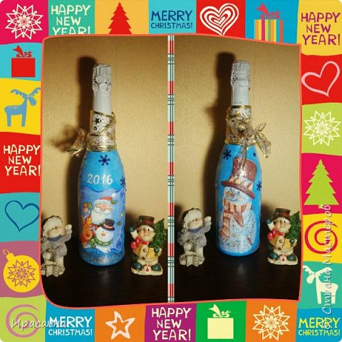 Бутылочки к Новому году фото 5