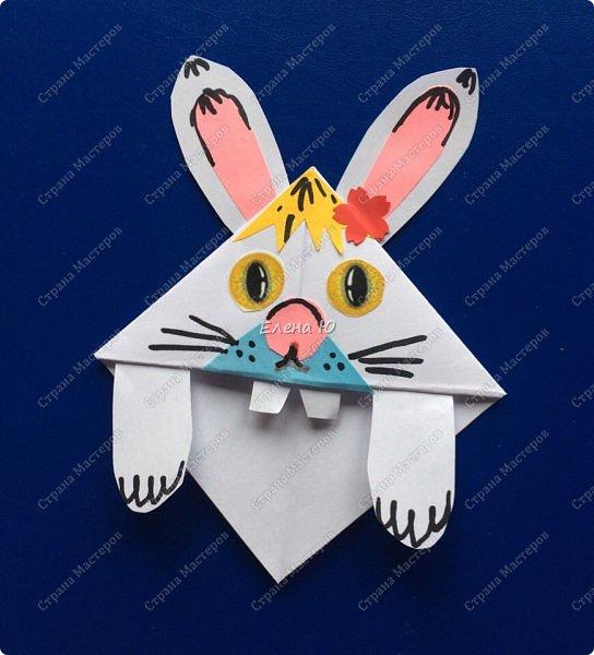 Такие забавные закладки можно смастерить в любимой мною технике оригами плюс аппликация:  фото 13