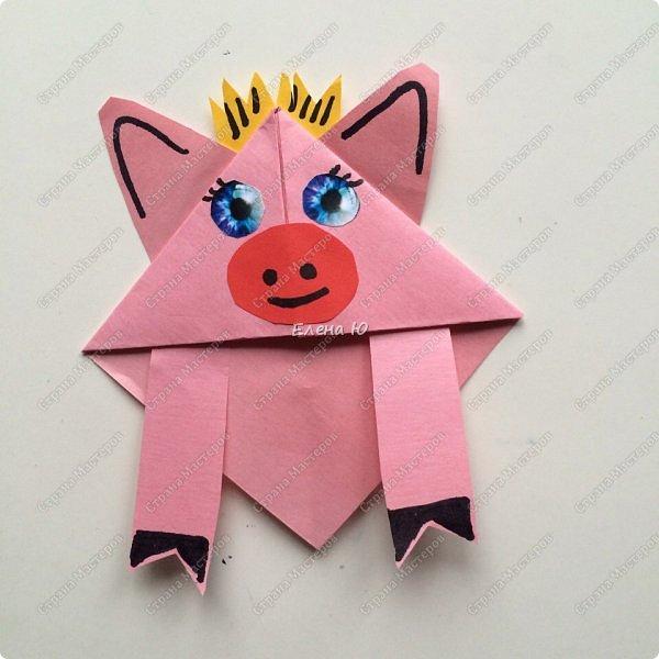 Такие забавные закладки можно смастерить в любимой мною технике оригами плюс аппликация:  фото 17