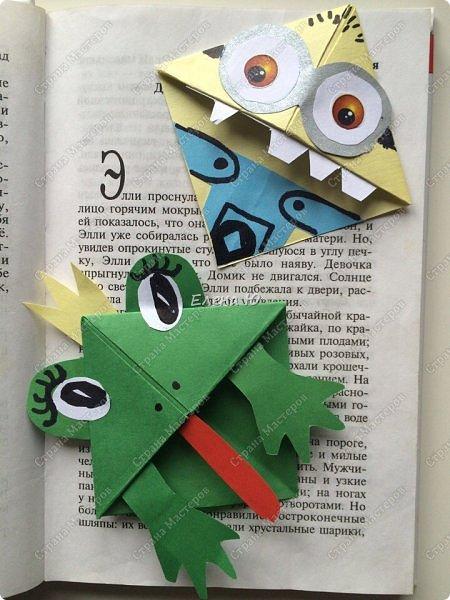 Такие забавные закладки можно смастерить в любимой мною технике оригами плюс аппликация:  фото 15