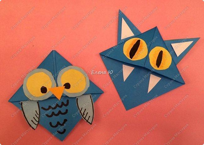 Такие забавные закладки можно смастерить в любимой мною технике оригами плюс аппликация:  фото 20