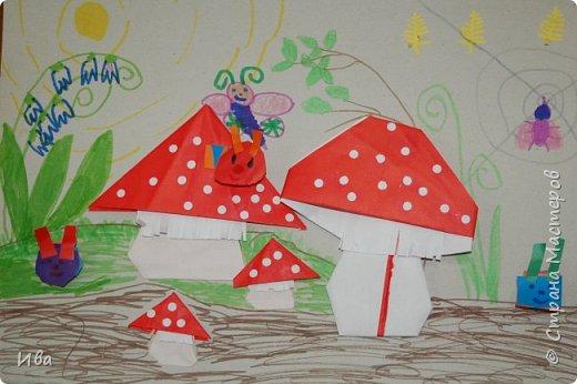 Мухоморы. Оригами. фото 6