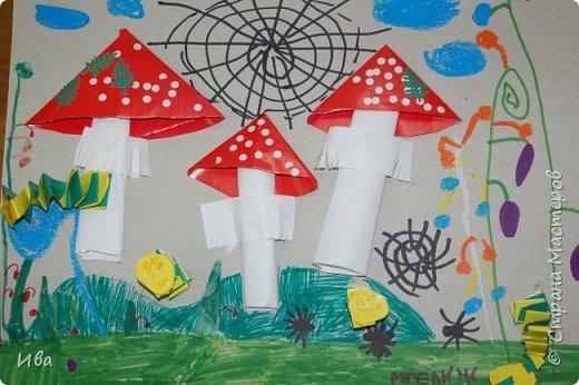 Мухоморы. Оригами. фото 3
