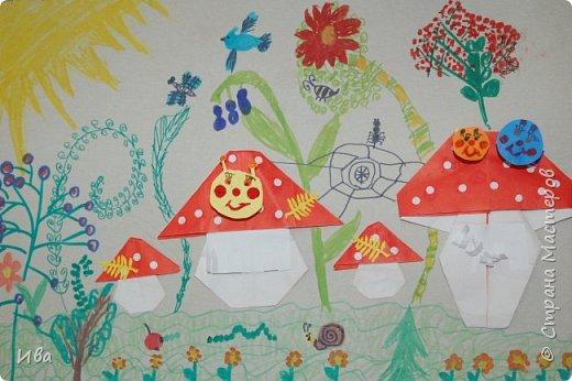 Мухоморы. Оригами. фото 1