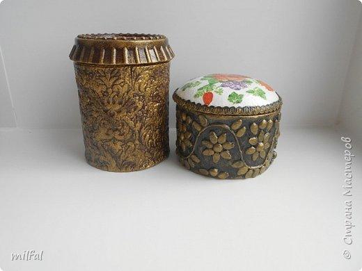 Шкатулки получились из консервных банок. фото 6