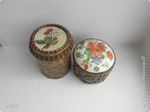 Шкатулки получились из консервных банок. фото 2