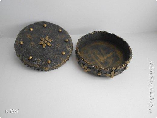 Шкатулки получились из консервных банок. фото 10