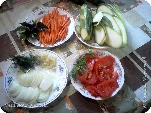 Добрый день дорогие соседи!!! Хочу поделится своим любимым рецептом приготовления кабачков тушеных с овощами! Еще в дополнение ежики. фото 2