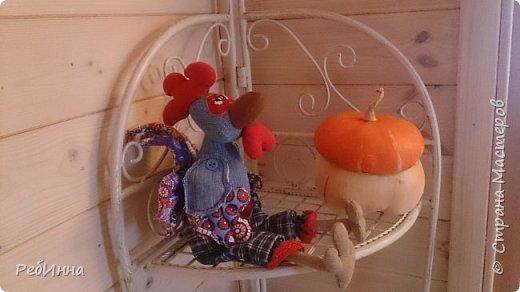 Здравствуйте, Мастера! Ну вот и я сподобилась, сшила Петушонка по МК Марианны Аверьяновой, только шила не в полную величину, а уменьшенную копию. фото 1