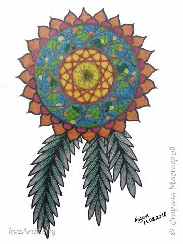 Как нарисовать мандалу - Мандала цветок
