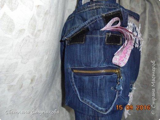 Представляю Вашему вниманию переделку  джинсов  в две сумочки. фото 6