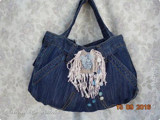 Представляю Вашему вниманию переделку  джинсов  в две сумочки. фото 8