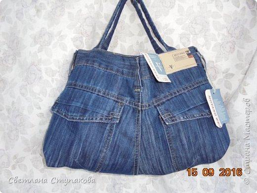 Представляю Вашему вниманию переделку  джинсов  в две сумочки. фото 11