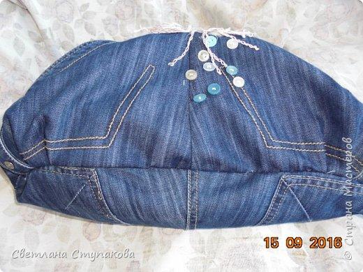 Представляю Вашему вниманию переделку  джинсов  в две сумочки. фото 10