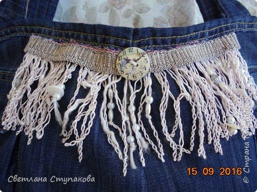 Представляю Вашему вниманию переделку  джинсов  в две сумочки. фото 2