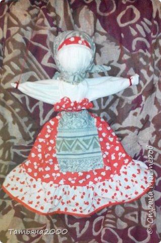 Куколка-оберег на деревянном крестике фото 2