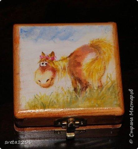 Небольшая шкатулочка была создана для дочери подруги, Евы. Девочка обожает лошадей!!!! фото 1