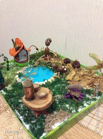 Вот сделали с сынулей поделку в детский садик из природного материала.  фото 4