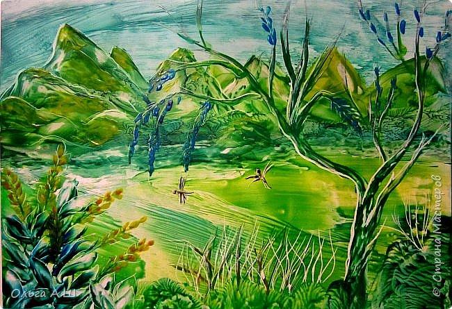 Пейзаж в синих тонах. А.3 фото 3