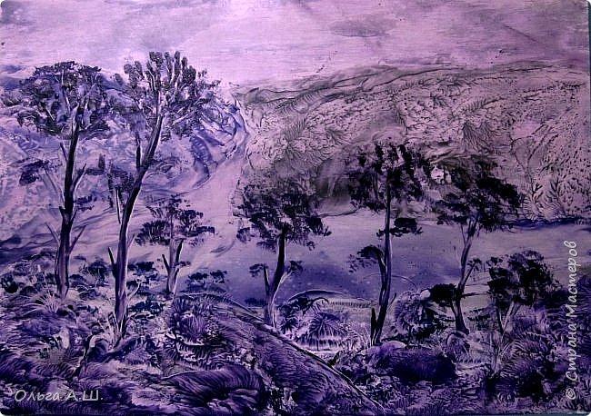 Пейзаж в синих тонах. А.3 фото 2