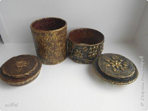 Шкатулки получились из консервных банок. фото 13