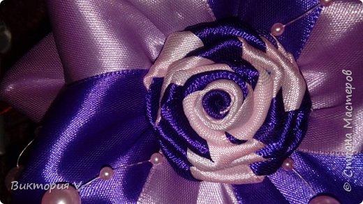 Бантики с двухцветной розочкой. фото 9