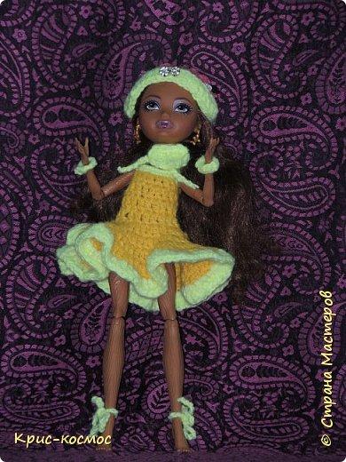 Здравствуй, СМ! Вот уже и второй этап начался. Платье вязала просто так, но потом оно подошло сюда. Кедра - королева дня. У неё есть младшая сестра - королева ночи но о ней потом... фото 2