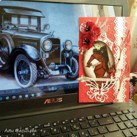 "открытка  "" алые маки"" фото 4"