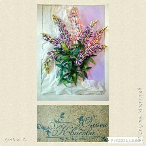 Здравствуйте,  дорогие соседи)))  Рада показать Вам ещё одну мою работу, цветы накрутила еше летом, сначала они стояли в вазе, затем лежали в коробке и вот наконец-то я их оформила)) фото 1