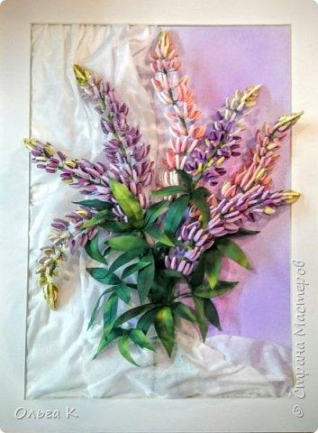 Здравствуйте,  дорогие соседи)))  Рада показать Вам ещё одну мою работу, цветы накрутила еше летом, сначала они стояли в вазе, затем лежали в коробке и вот наконец-то я их оформила)) фото 2