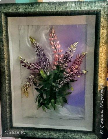 Здравствуйте,  дорогие соседи)))  Рада показать Вам ещё одну мою работу, цветы накрутила еше летом, сначала они стояли в вазе, затем лежали в коробке и вот наконец-то я их оформила)) фото 3