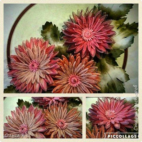 Здравствуйте,  дорогие соседи)))  Рада показать Вам ещё одну мою работу, цветы накрутила еше летом, сначала они стояли в вазе, затем лежали в коробке и вот наконец-то я их оформила)) фото 9
