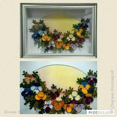 Здравствуйте,  дорогие соседи)))  Рада показать Вам ещё одну мою работу, цветы накрутила еше летом, сначала они стояли в вазе, затем лежали в коробке и вот наконец-то я их оформила)) фото 5