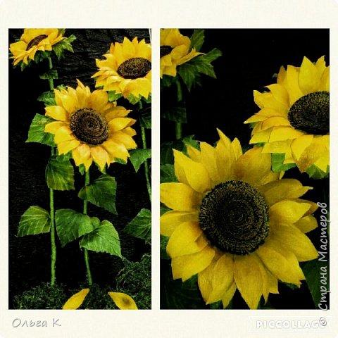 Здравствуйте,  дорогие соседи)))  Рада показать Вам ещё одну мою работу, цветы накрутила еше летом, сначала они стояли в вазе, затем лежали в коробке и вот наконец-то я их оформила)) фото 4
