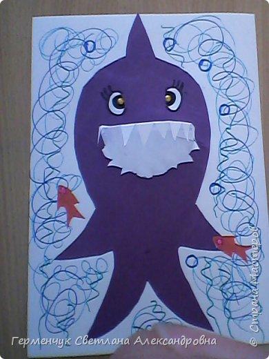 """Работы учащихся 4 """"В"""" ; класса"""" Добрые  акулы"""" фото 2"""