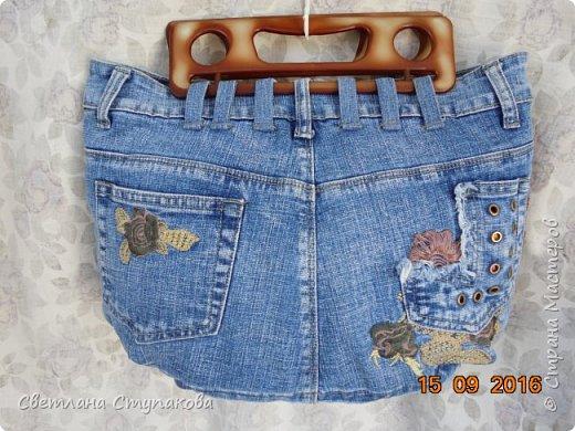 Очень люблю джинсу . Вот и появились следующие две сумки-сестрички. Вид спереди - всё строго и лаконично. фото 7