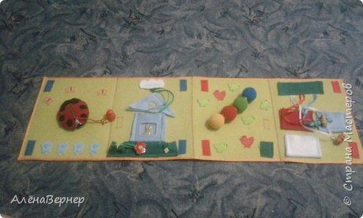 Детская книжка из фетра на развитие мелкой моторики рук детей раннего возраста. фото 1