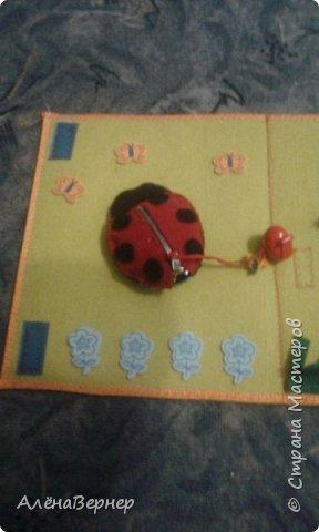 Детская книжка из фетра на развитие мелкой моторики рук детей раннего возраста. фото 2