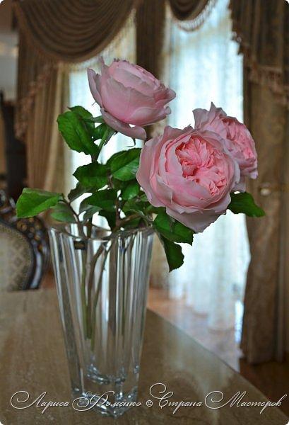 """Давно засматривалась на фотографии английских роз Дэвида Остина.  И вот пришло оно - ВДОХНОВЕНИЕ!!! Вы ведь знаете, как это бывает!!!  И вот так, с огромной радостью и желанием, сотворился мой """" Английский букет"""".  фото 2"""