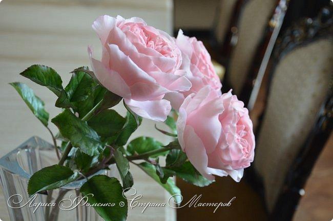 """Давно засматривалась на фотографии английских роз Дэвида Остина.  И вот пришло оно - ВДОХНОВЕНИЕ!!! Вы ведь знаете, как это бывает!!!  И вот так, с огромной радостью и желанием, сотворился мой """" Английский букет"""".  фото 1"""