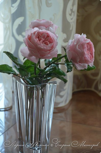 """Давно засматривалась на фотографии английских роз Дэвида Остина.  И вот пришло оно - ВДОХНОВЕНИЕ!!! Вы ведь знаете, как это бывает!!!  И вот так, с огромной радостью и желанием, сотворился мой """" Английский букет"""".  фото 12"""
