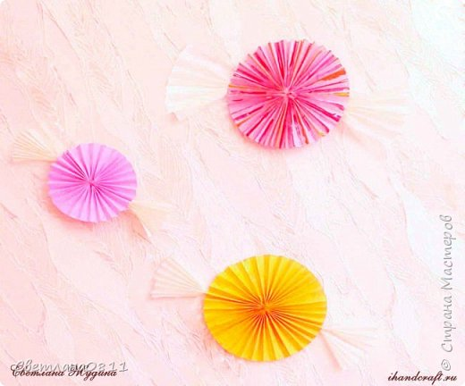 Большие бумажные конфеты