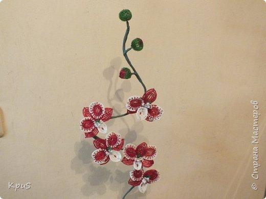 Добрый вечер жители СМ. Представляю Вашему вниманию несколько моих работ из бисера.  Эту композицию из орхидеи и лилии закончила только сегодня. фото 7